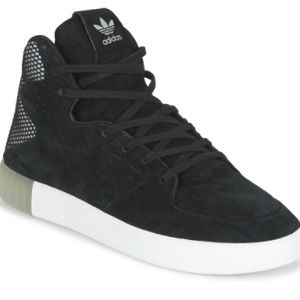 Adidas Suede Black Tubular High Top Sneakers
